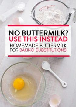 Buttermilk substitution