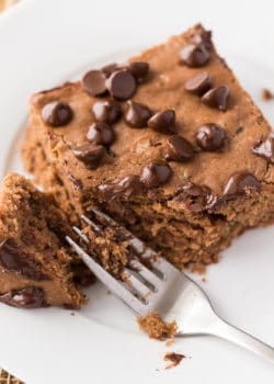 Chocolate Zucchini Cake - this fudgy dessert is a chocolate lovers dream. The zucchini keeps this recipe soft and the chocolate makes it yummy.