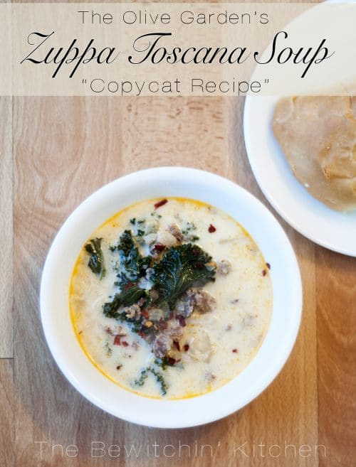 The Olive Garden's Zuppa Toscana Soup