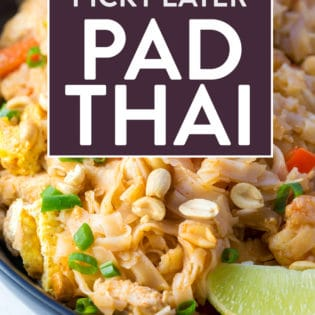 Picky Eater Pad Thai. This recipe allows you to make something different for dinner but without ingredients that may cause a fight. It's adjustable to make your own and make it work for your family's supper.