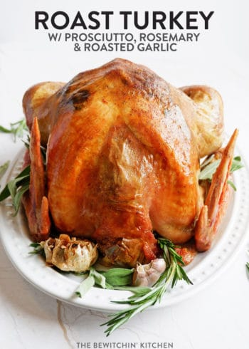 roast turkey with prosciutto, rosemary, and roasted garlic