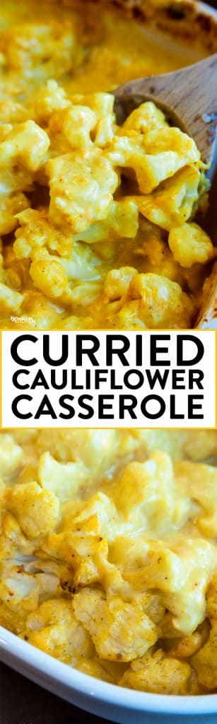 Curried Cauliflower - this casserole was a favorite growing up. Curry, cauliflower, cream of chicken soup and cheese! | The Bewitchin' Kitchen