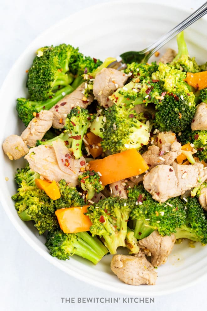Broccoli Garlic Pork Stir Fry