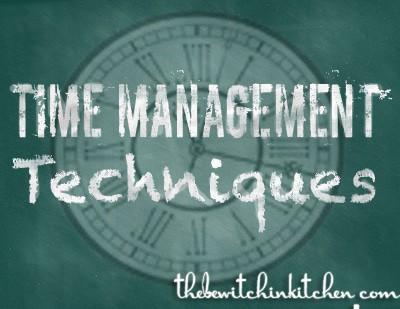 time management technqiues