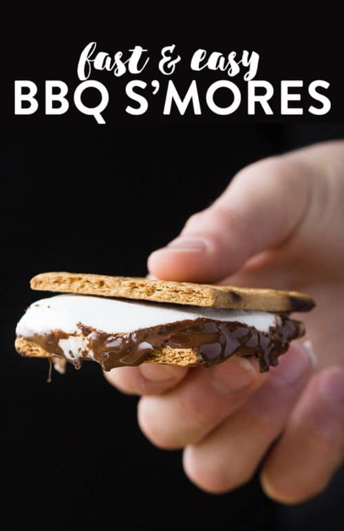Grilled Smores - fire up the BBQ and get ready for some BBQ S'mores. This summer dessert recipe is super fast and easy to through together.