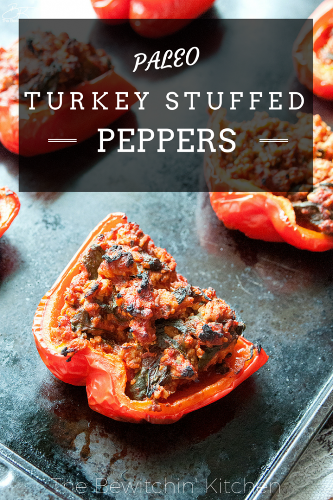 Paleo stuffed peppers recipe. This recipe is the most popular post at The Bewitchin' Kitchen. Add it to your paleo recipes list! | Turkey Stuffed Peppers #Paleo recipe