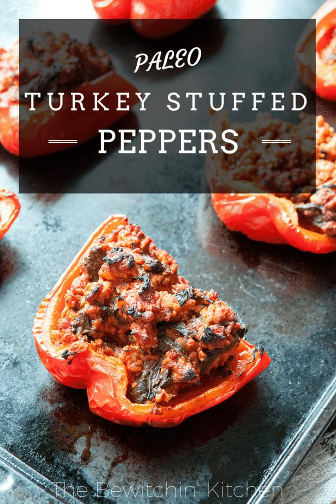... it to your paleo recipes list! | Turkey Stuffed Peppers #Paleo recipe