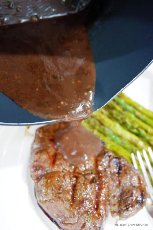 Red Wine Demi Glace for grilled steaks
