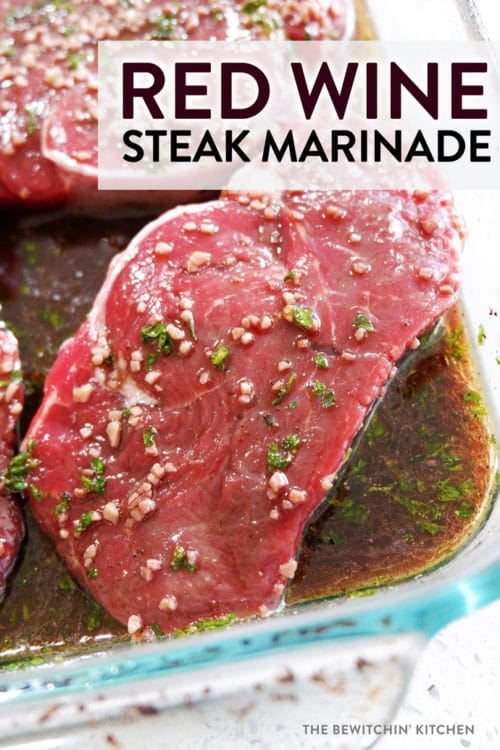This red wine steak marinade is incredibly easy to throw together. It's my favorite grilled steak marinade, so whip this up and fire up the BBQ!