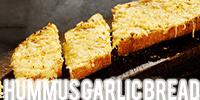 Hummus Garlic Bread