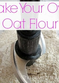 Make Your Own Oat Flour