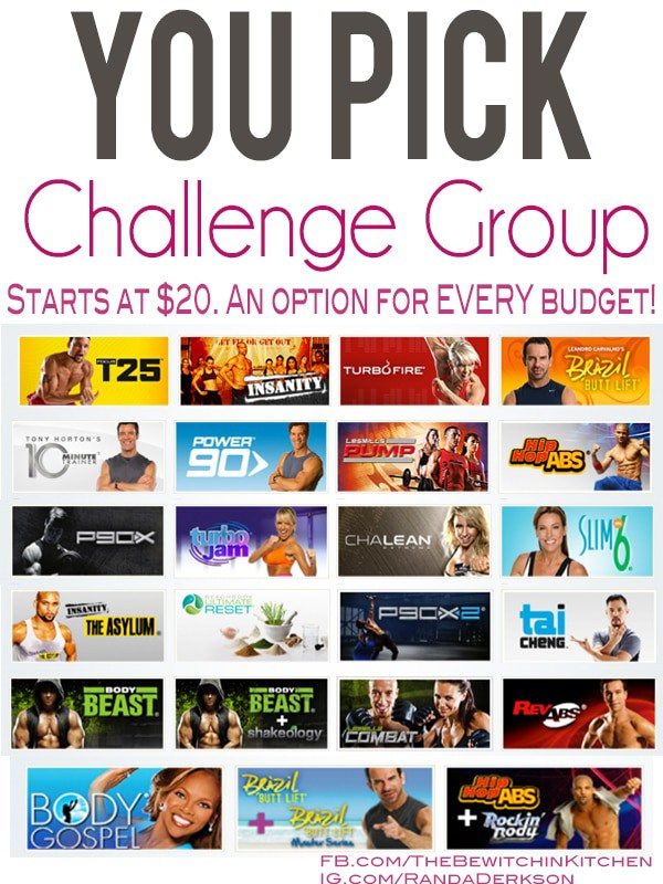 Get Fit With The You Pick Challenge Group