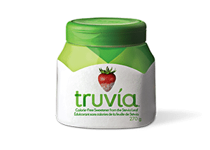 Truvia tastes just like sugar and adds a zero calorie option for your coffee, tea and baking