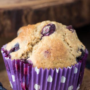 Healthy Blueberry Muffins. This recipe for blueberry muffins is picky eater approved and it packs added fiber to your diet too with oat bran! Healthy muffin recipes do exist!