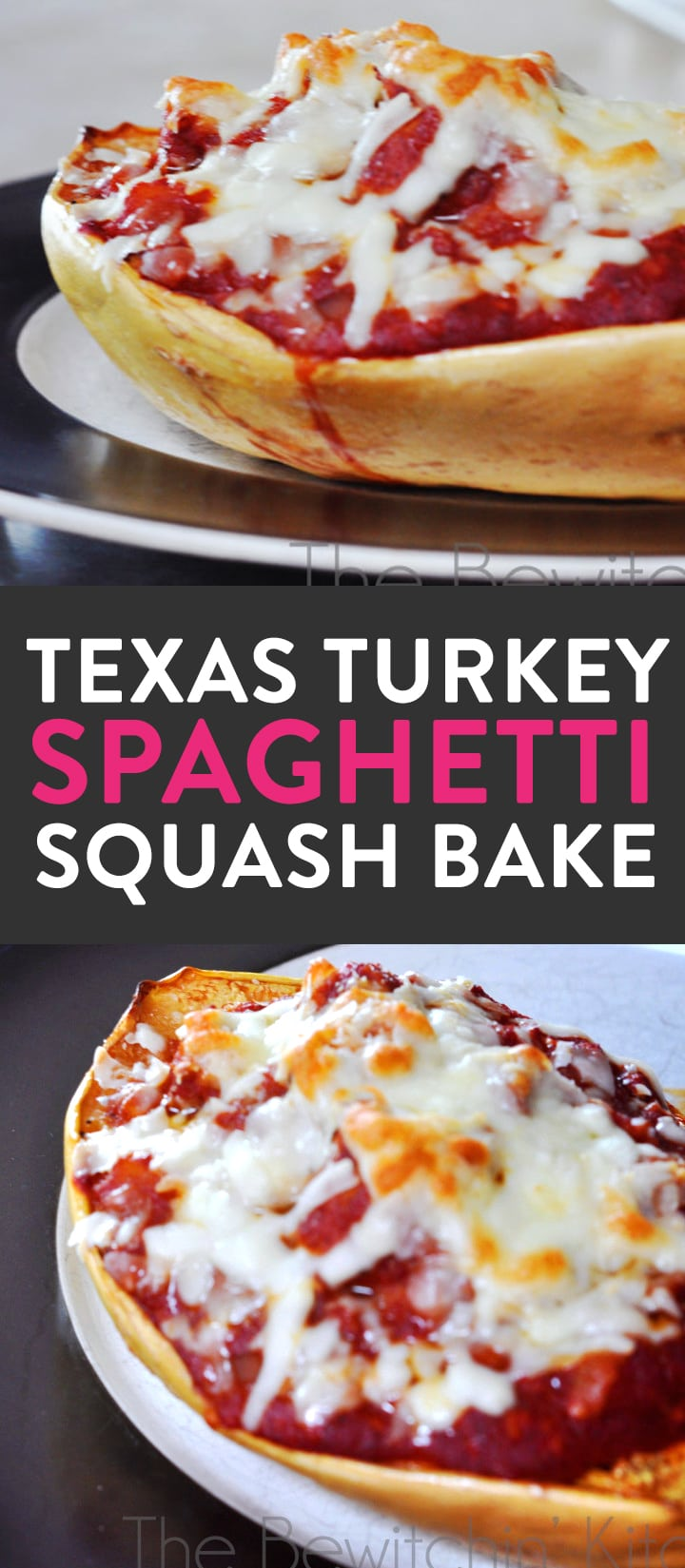 Texas Turkey Spaghetti Squash Bake. This gluten free recipe is not only a healthy dinner idea but it's delicious and man approved. Spaghetti squash recipes are a great way to sneak in some extra vegetables for your family. Take out the cheese to make it paleo.