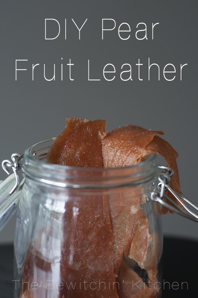 DIY Pear Fruit Leather