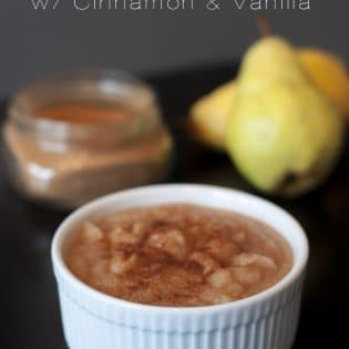 Pear Butter with Cinnamon and Vanilla