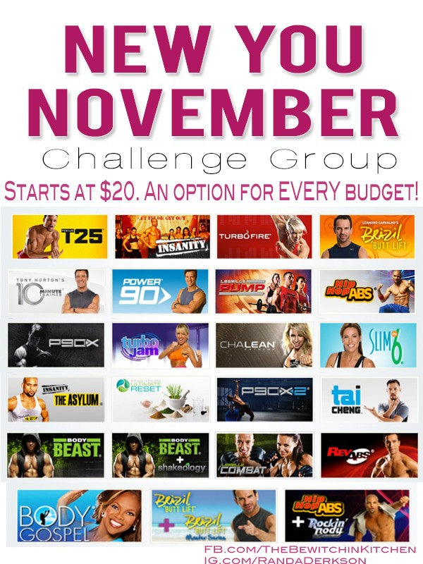 Get Fit With The New You November Challenge Group