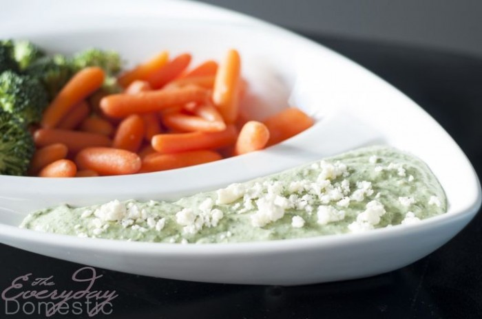 Garlic and Herb Feta Dip. This is the perfect party dip, tastes great with vegetables.