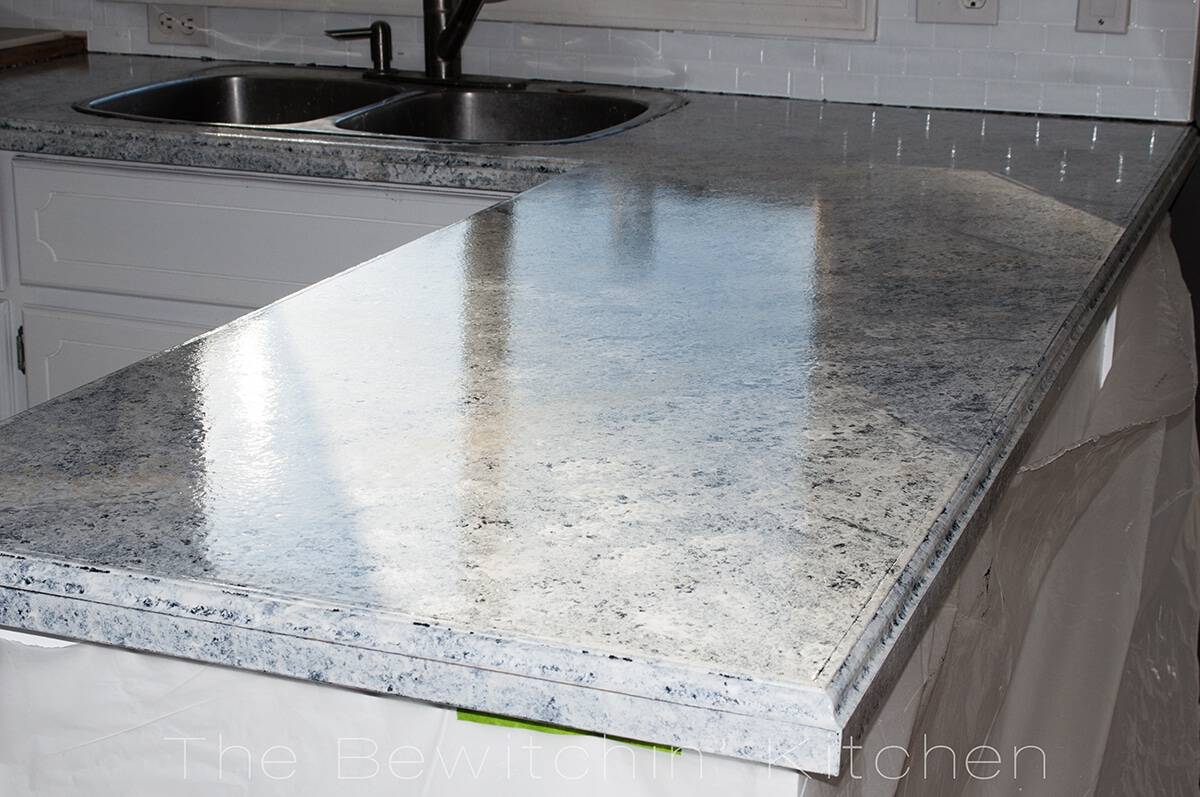 Countertop Paint Kit Walmart : Painting Kitchen Countertops With Giani Granite The Bewitchin ...