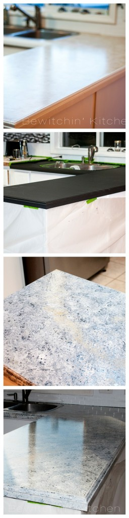 Painting countertops to look like granite