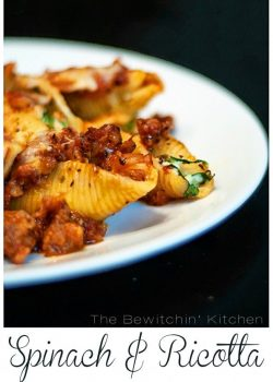 Spinach and Ricotta Stuffed Pasta Shells recipe