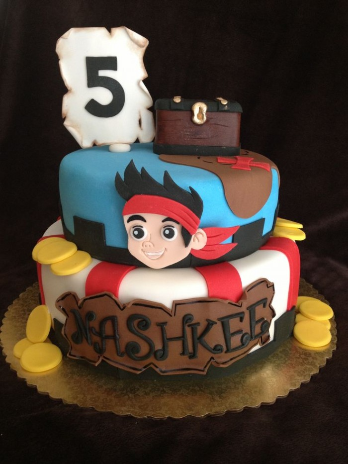 Jake and The Neverland Pirates Birthday Cake for toddler boys cake