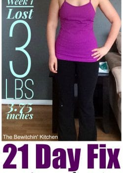 21 Day Fix Week 1 Results
