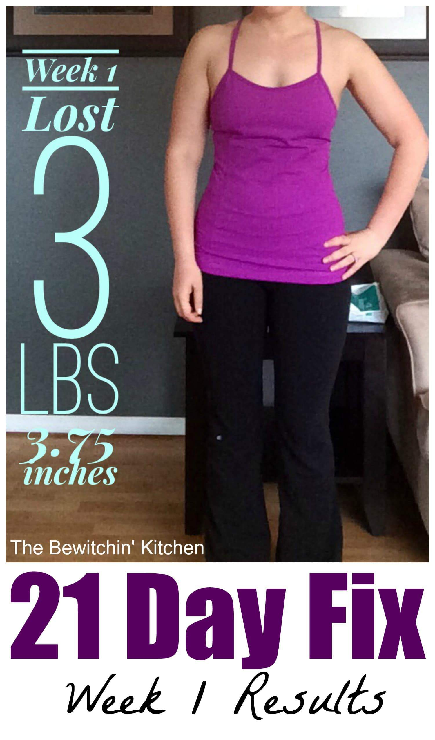 21 Day Fix - Week 1 Results | The Bewitchin' Kitchen