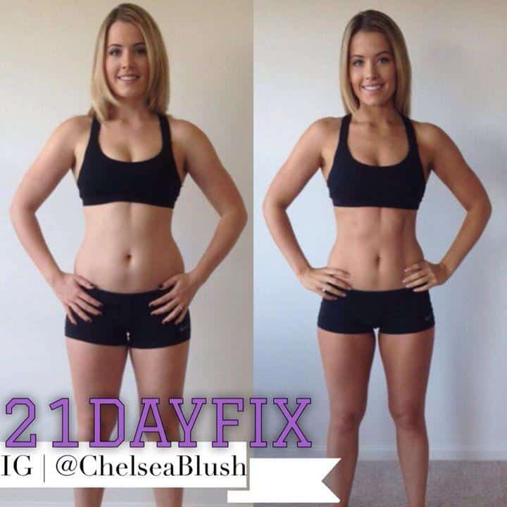21 day fix chelsea blush results