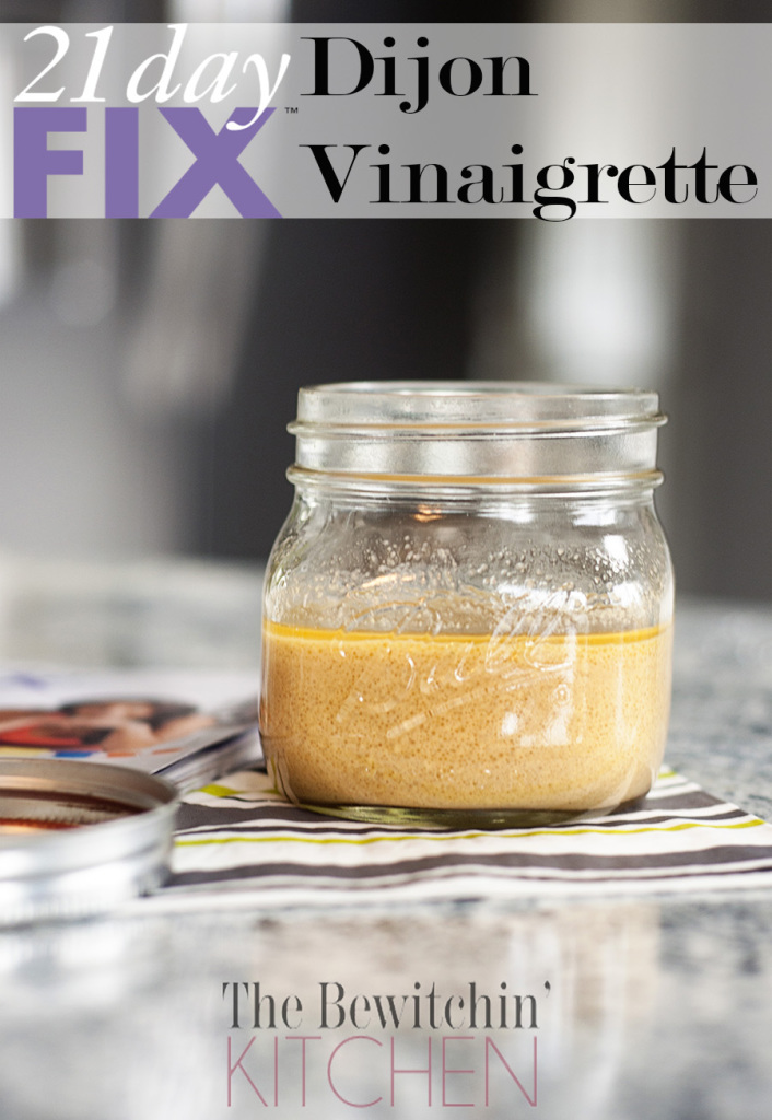 Dijon Vinaigrette recipe from the 21 Day Fix. This clean eating recipe is great to use for your lunch and dinner for salads and it also makes a great marinade. Visit The Bewitchin' Kitchen for more 21 Day Fix recipes and 21 Day Fix meal plans. This recipe is also featured in Insanity Max 30.