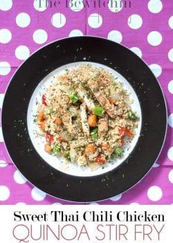 Sweet Thai Chili Chicken Quinoa Stir Fry