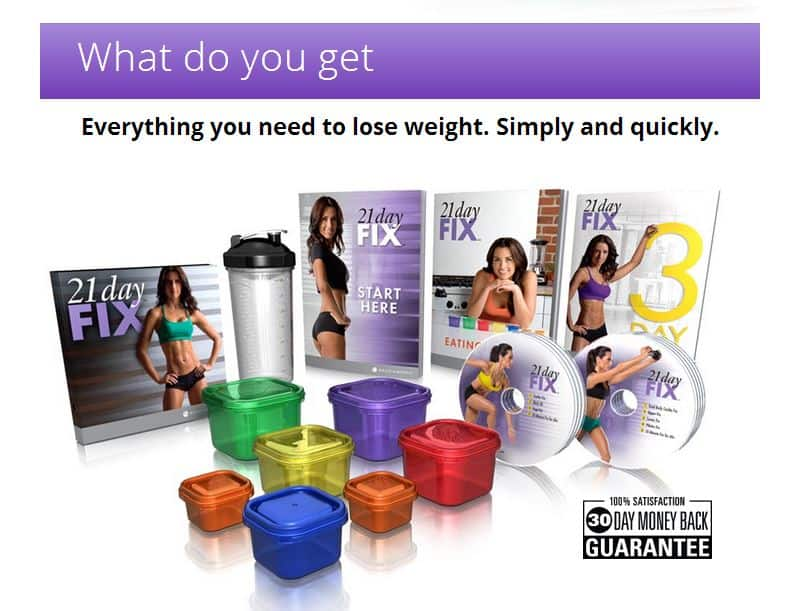 What's included in the 21 Day Fix