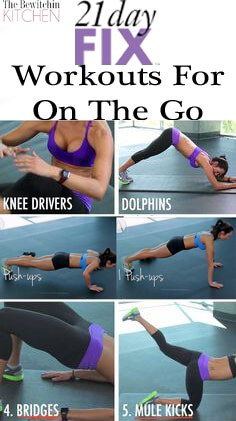 21 Day Fix Workouts For On The Go