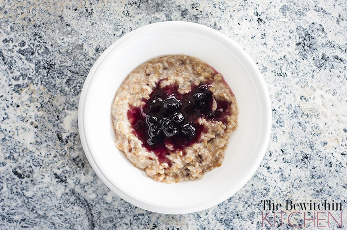 Blueberry Steel Cut Oatmeal