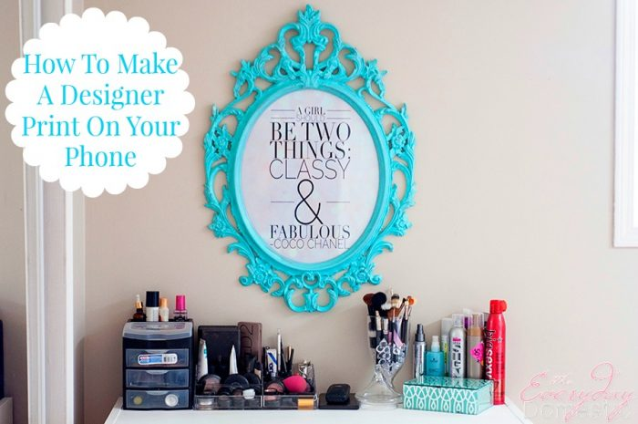 How to make a designer print with your phone. No need to fancy programs, this app lets you DIY your own home decor.