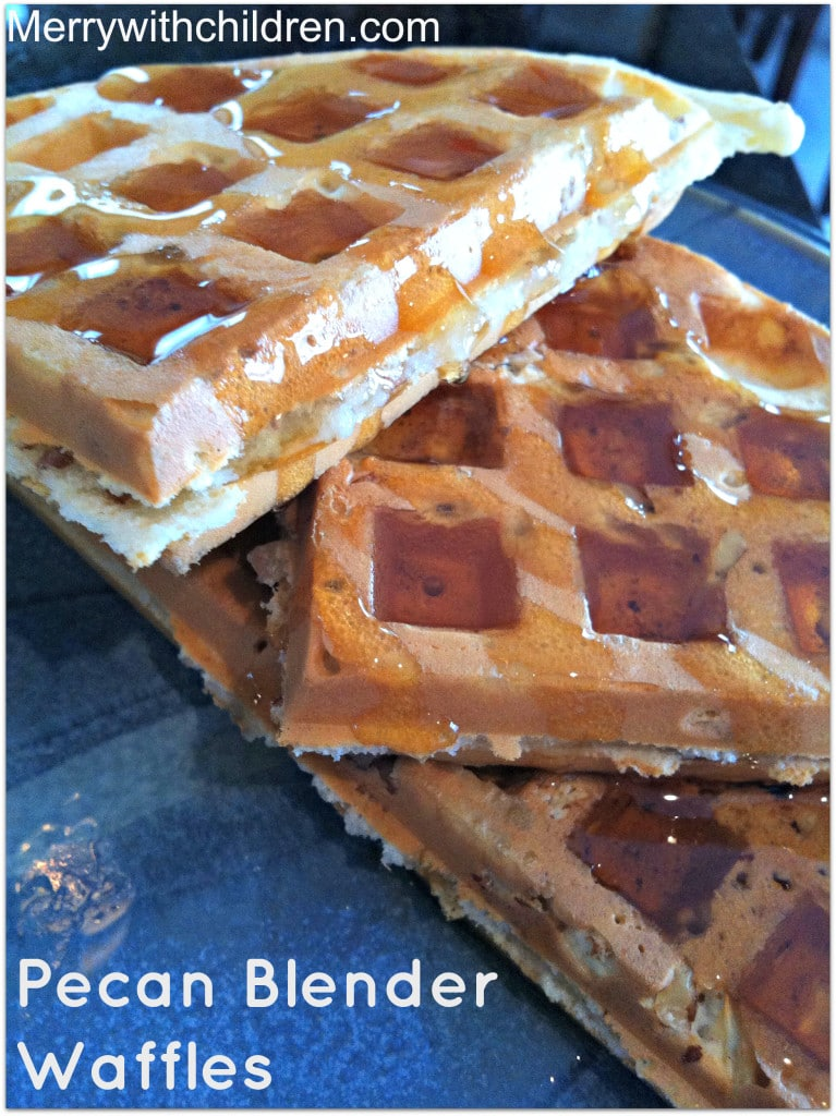Pecan Blender Waffles - Merry About Town