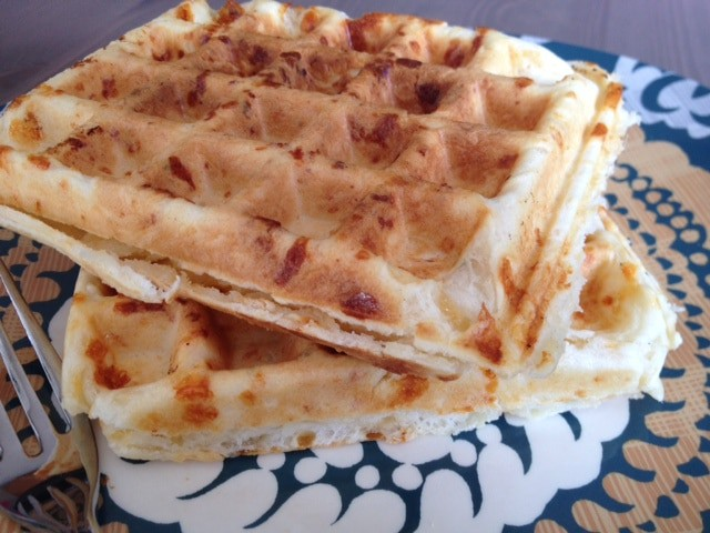 Savory Herb and Cheddar Waffles