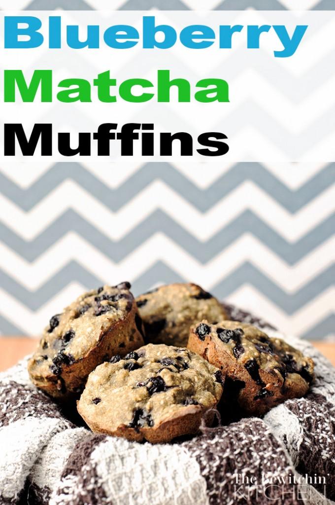 Blueberry Matcha Muffins