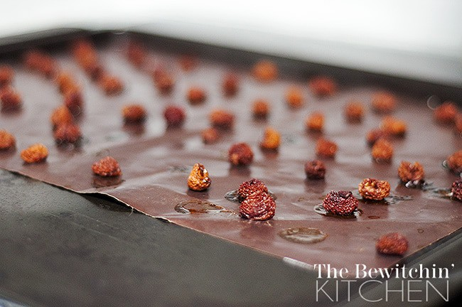 Dehydrating cherries in the oven