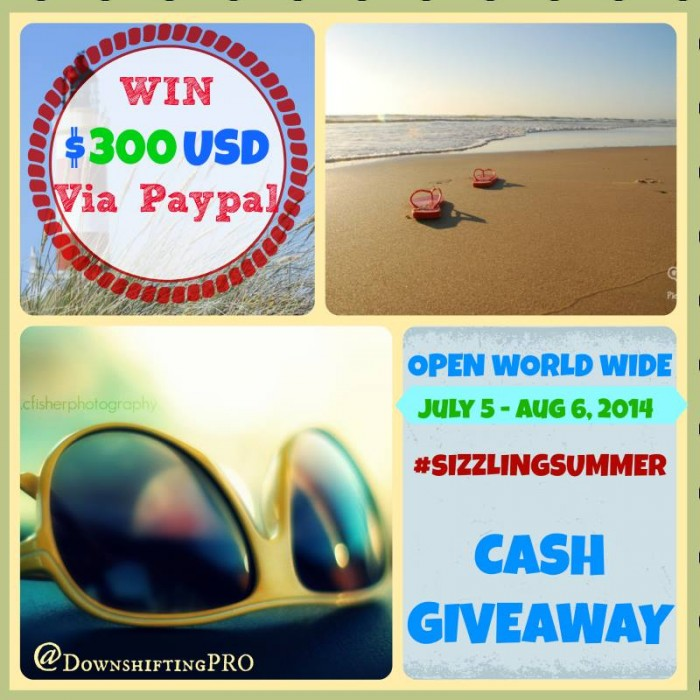 $300 PayPal Giveaway #sizzlingsummer