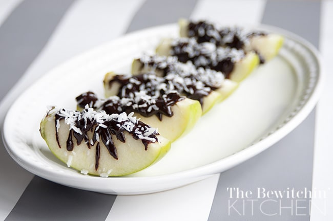 Chocolate Coconut Covered Apples