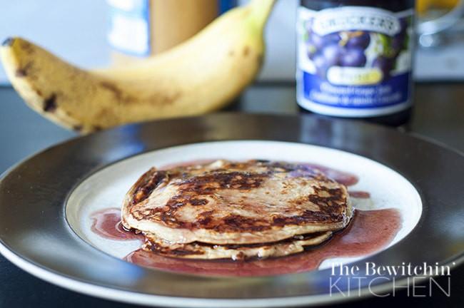 PB & J Healthy Pancakes