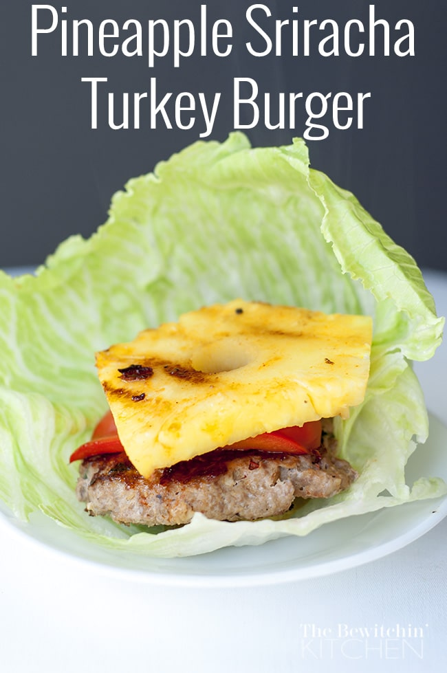 Pineapple Sriracha Turkey Burger recipe