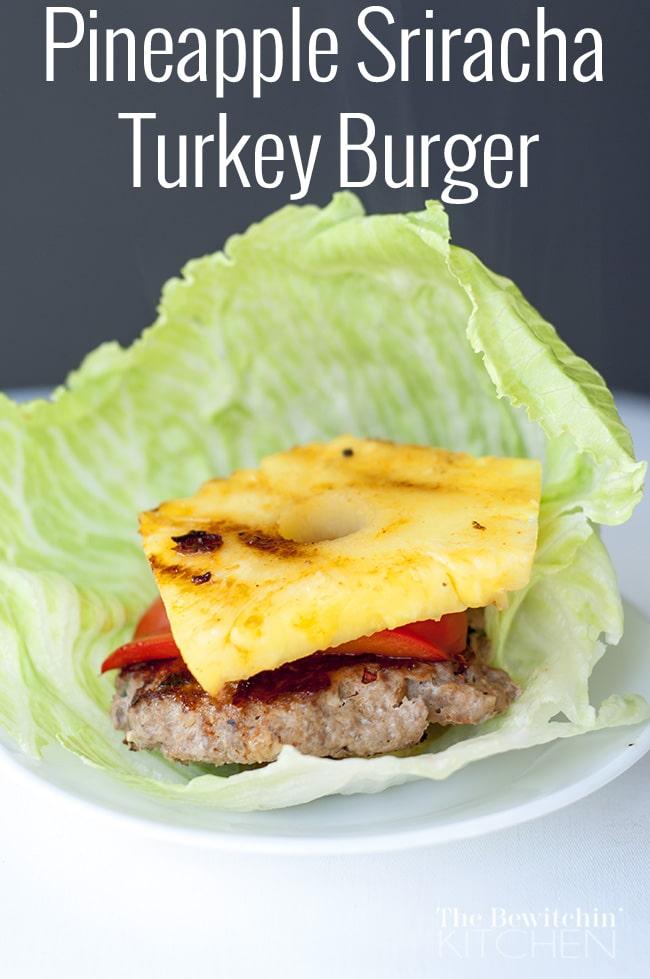 Pineapple Sriracha Turkey Burger recipe