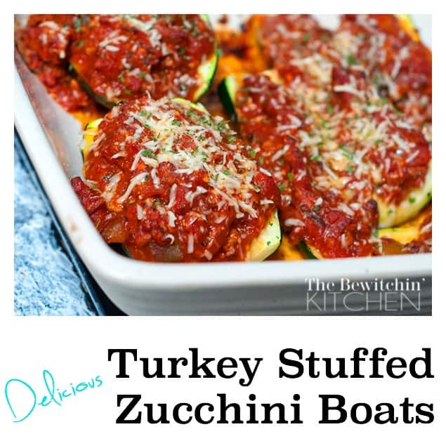 Turkey Stuffed Zucchini Boats – Italian Style