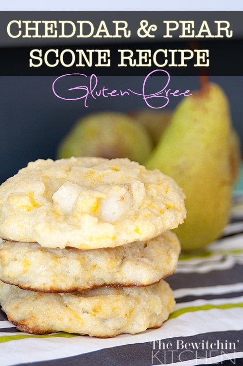 Cheddar and Pear Scone. This gluten free recipe is perfect for fall