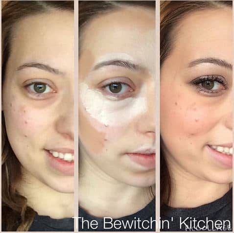 Highlight and contouring with Younique. Read the full review at The Bewitchin' Kitchen