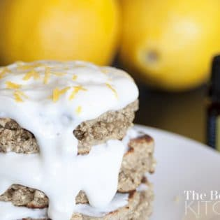 Lemon Almond Oat Pancakes - Cooking with Essential Oils