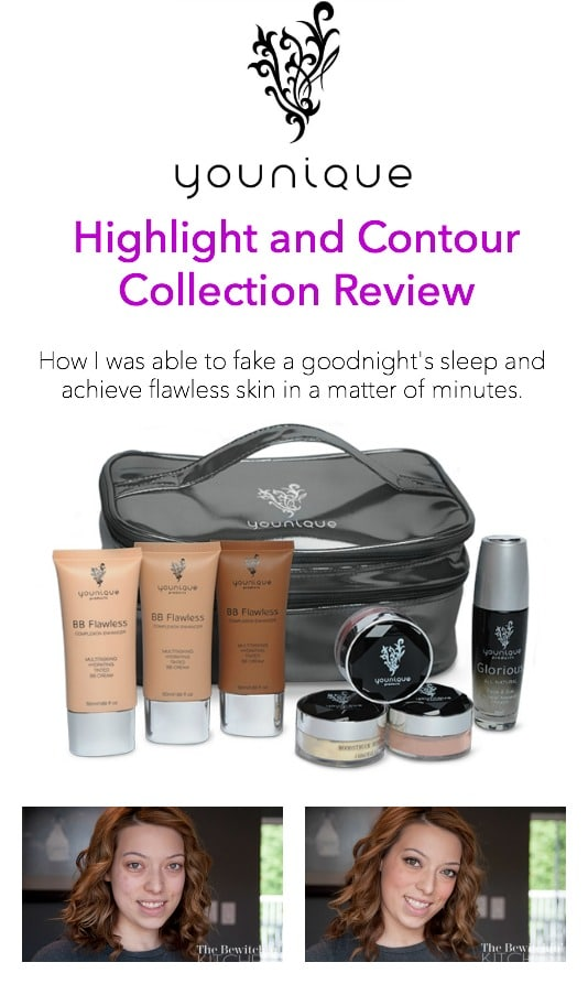 Younique's Highlight and Contour Collection Review. I love this stuff! I was able to make it look like I had a full night's sleep even though I had 3 hours. It transforms my skin.